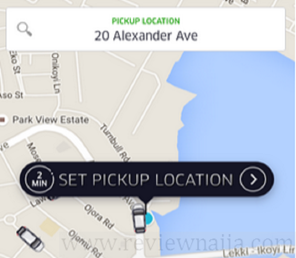 how to use uber app destination