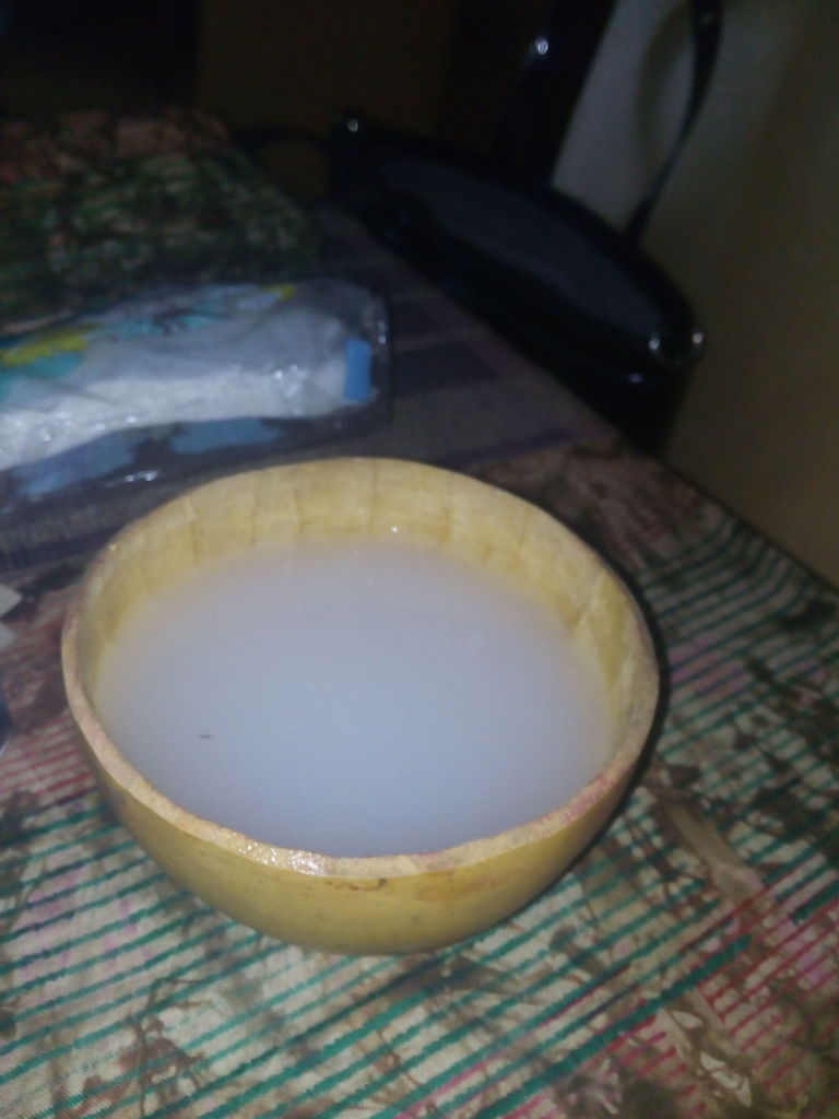 Palm wine in a calabash!