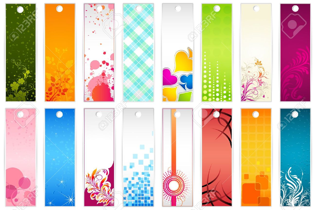9736514-illustration-of-set-of-colorful-floral-bookmark-Stock ...